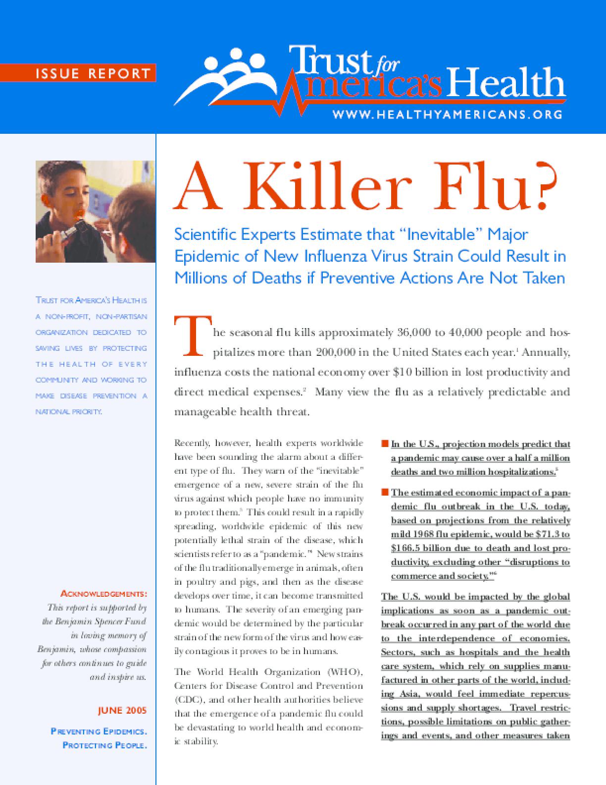 A Killer Flu?
