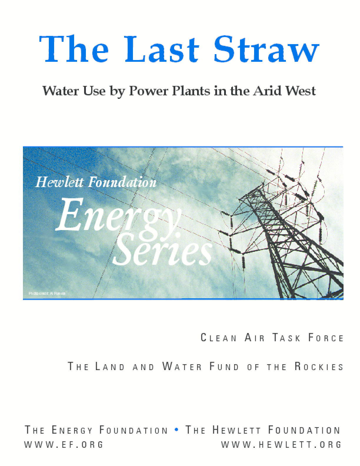 The Last Straw: Water Use by Power Plants in the Arid West