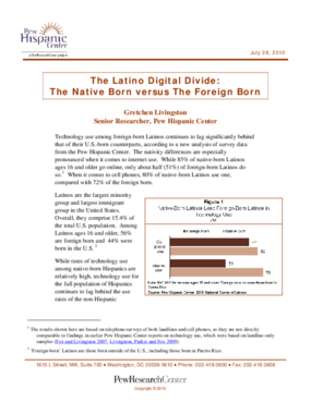 The Latino Digital Divide: The Native Born Versus the Foreign Born