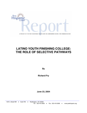 Latino Youth Finishing College: The Role of Selective Pathways