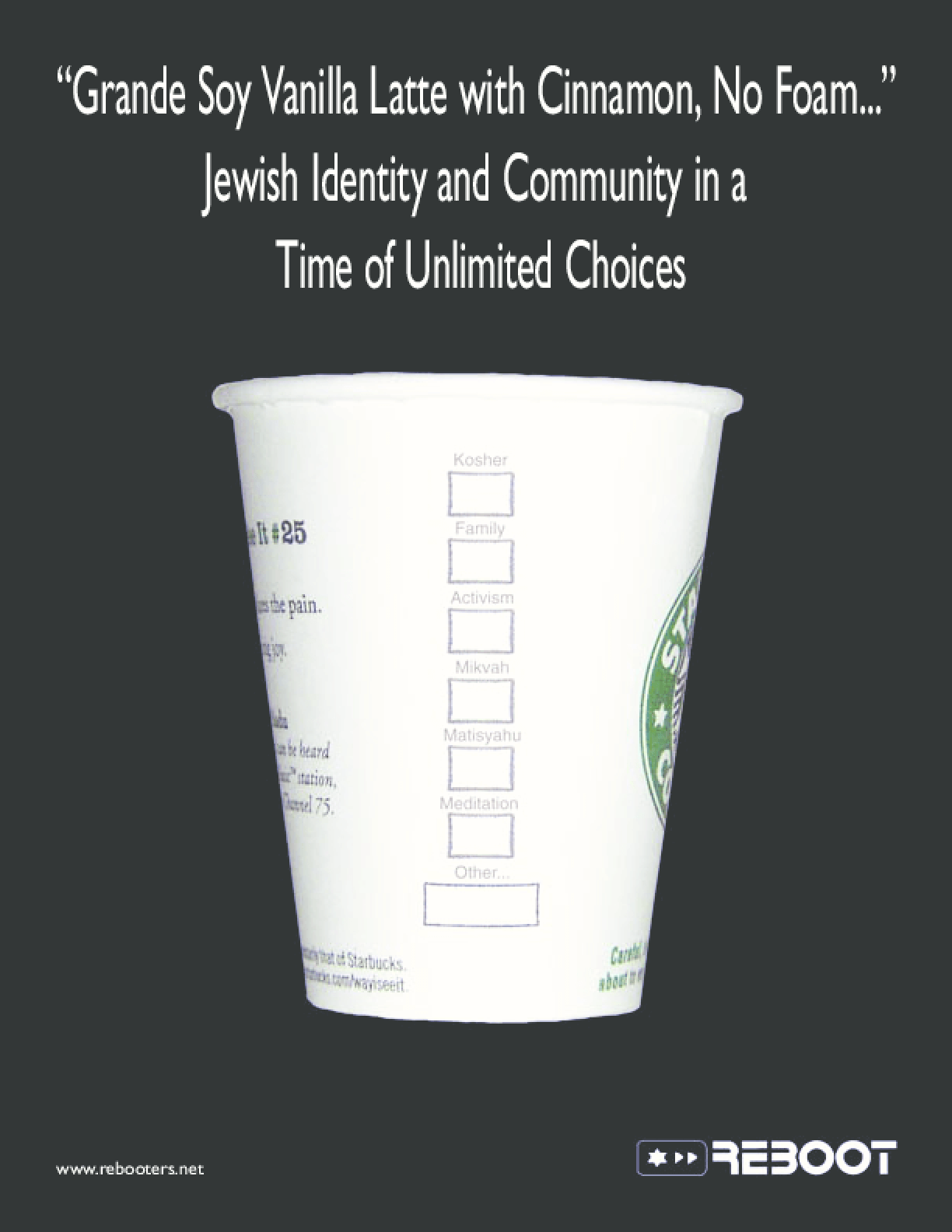 The Latte Report: Jewish Identity and Community in a Time of Unlimited Choices
