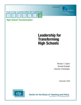 Leadership for Transforming High Schools
