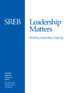 Leadership Matters: Building Leadership Capacity