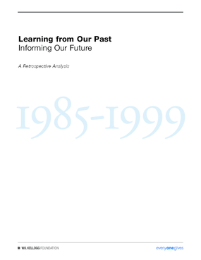 Learning From our Past, Informing our Future -- A Retrospective Analysis, 1985-1999