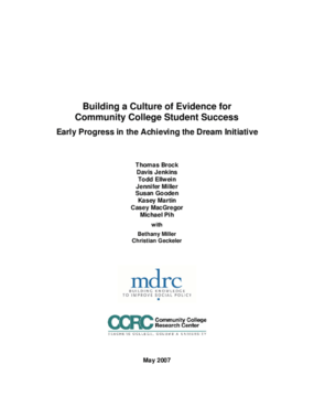 Building a Culture of Evidence for Community College Student Success: Early Progress in the Achieving the Dream Initiative