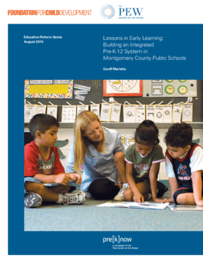 Lessons in Early Learning: Building an Integrated Pre-K-12 System in Montgomery County Public Schools