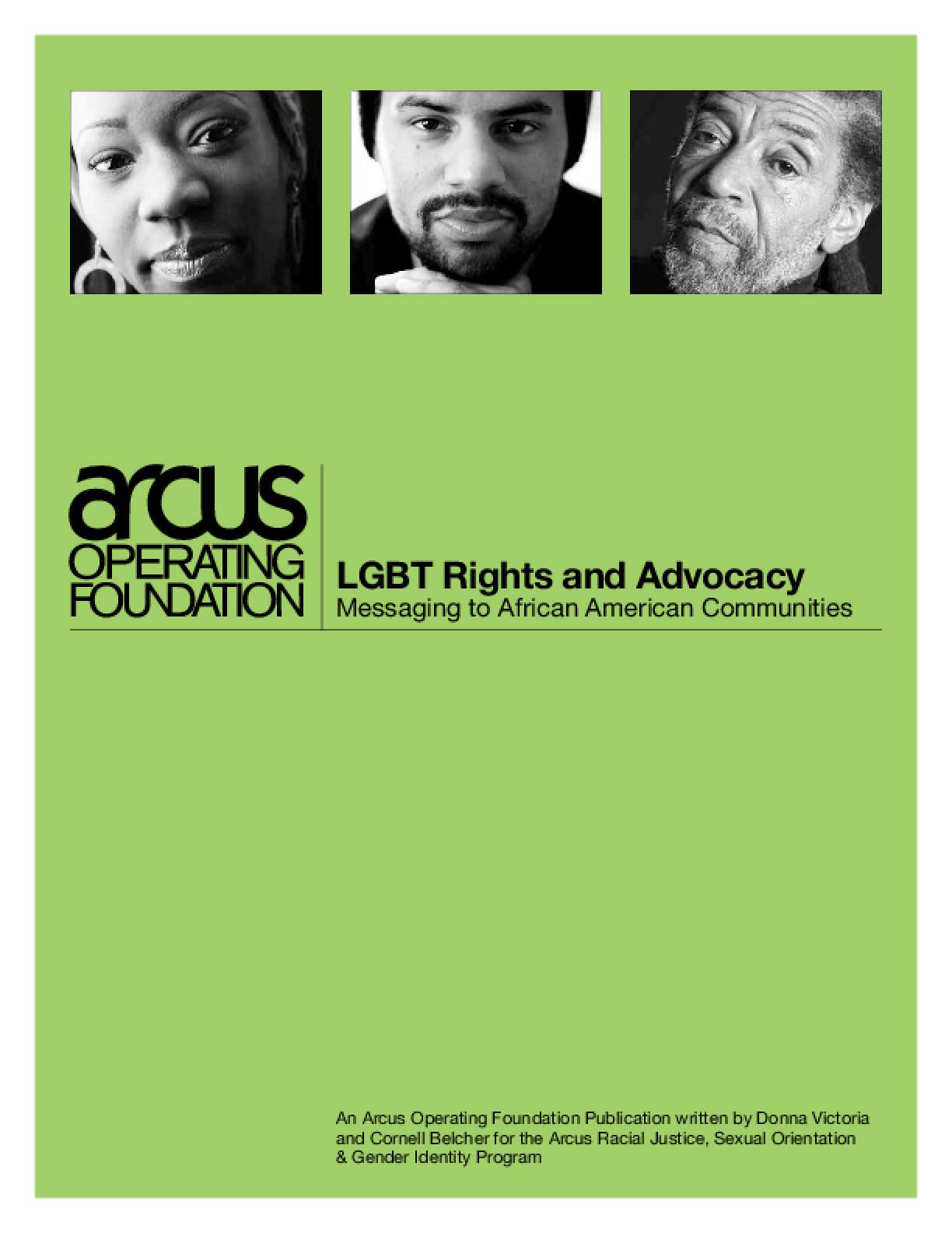 LGBT Rights and Advocacy: Messaging to African American Communities