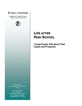 Life After High School: Young People Talk About Their Hopes and Prospects