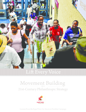 Lift Every Voice: Movement Building as a 21st-Century Philanthropic Strategy