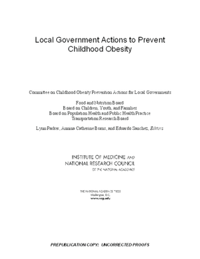 Local Government Actions to Prevent Childhood Obesity