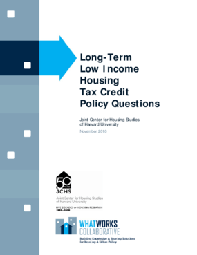 Long-Term Low Income Housing Tax Credit Policy Questions