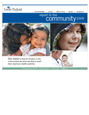 Lucile Packard Foundation for Children's Health - 2009 Annual Report