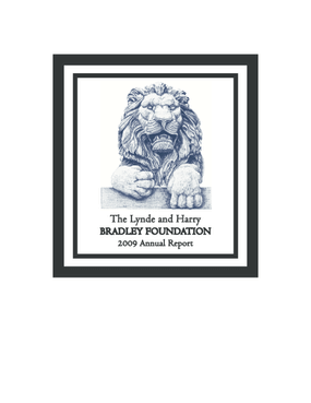 Lynde and Harry Bradley Foundation, Inc. - 2009 Annual Report