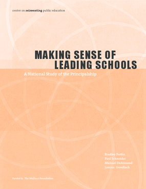 Making Sense of Leading Schools: A Study of the School Principalship