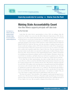 Making State Accountability Count: How New Mexico Supports Principals With Data Tools