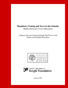 Mandatory Testing and News in the Schools: Implications for Civic Education