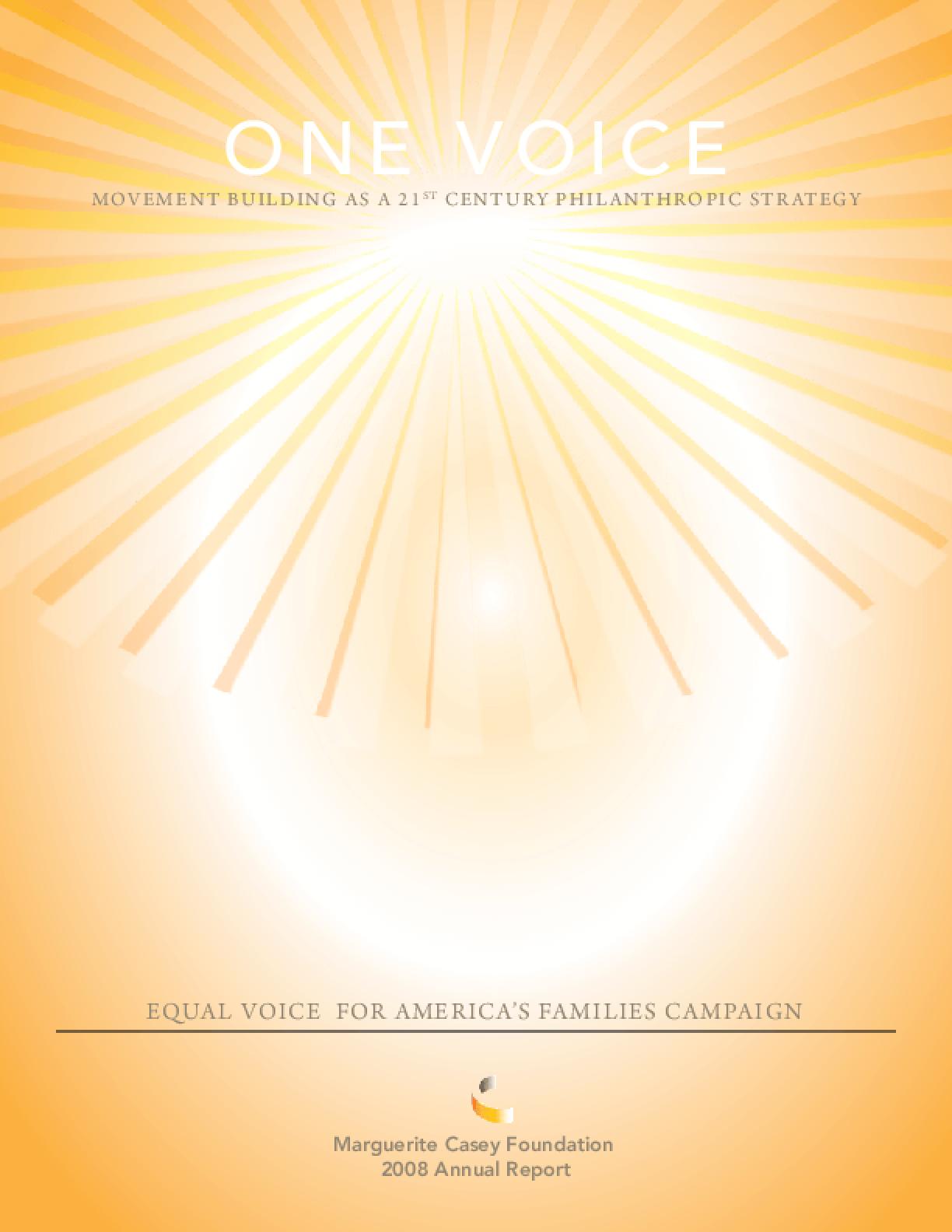 Marguerite Casey Foundation - 2008 Annual Report