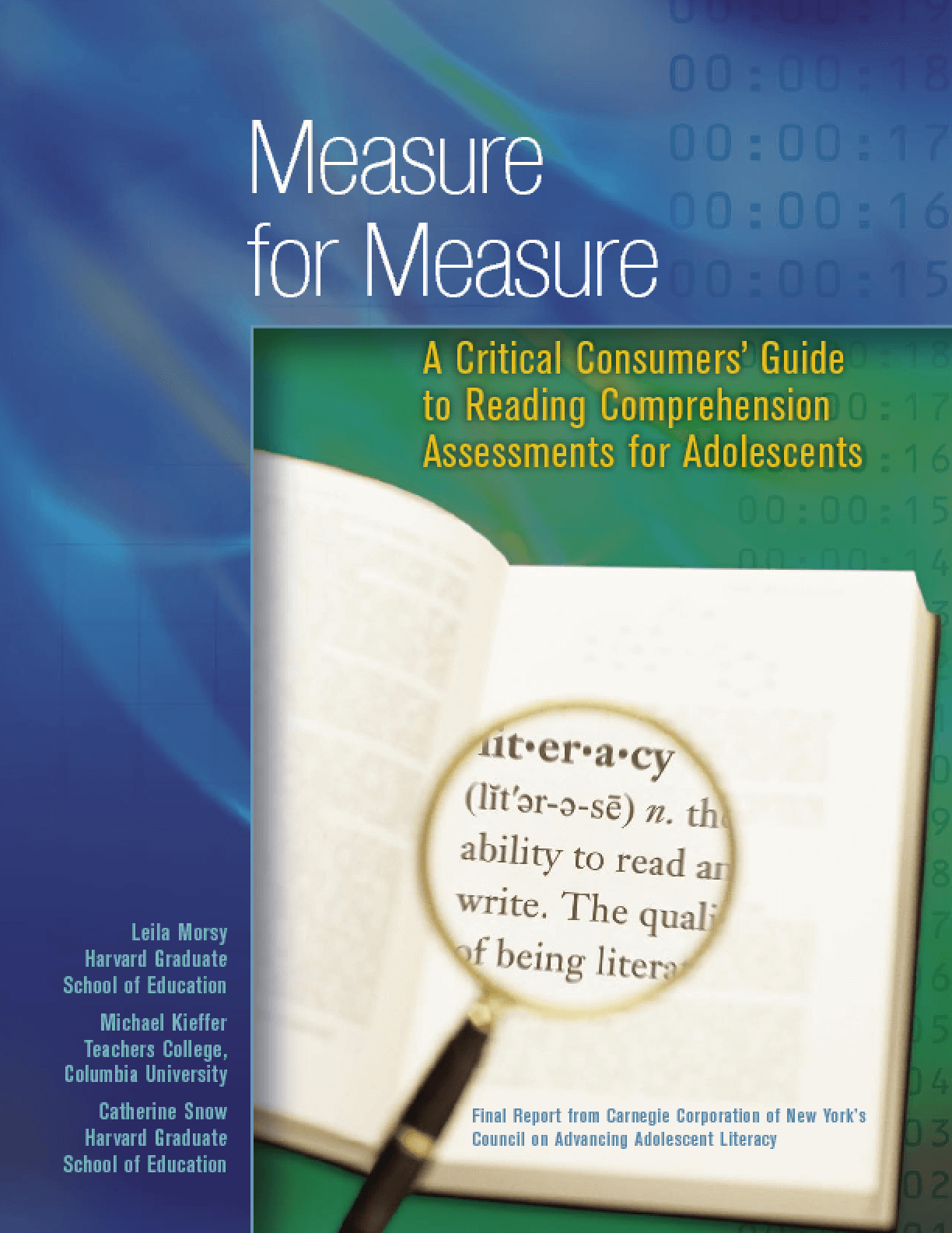 Measure for Measure: A Critical Consumers' Guide to Reading Comprehension Assessments for Adolescents