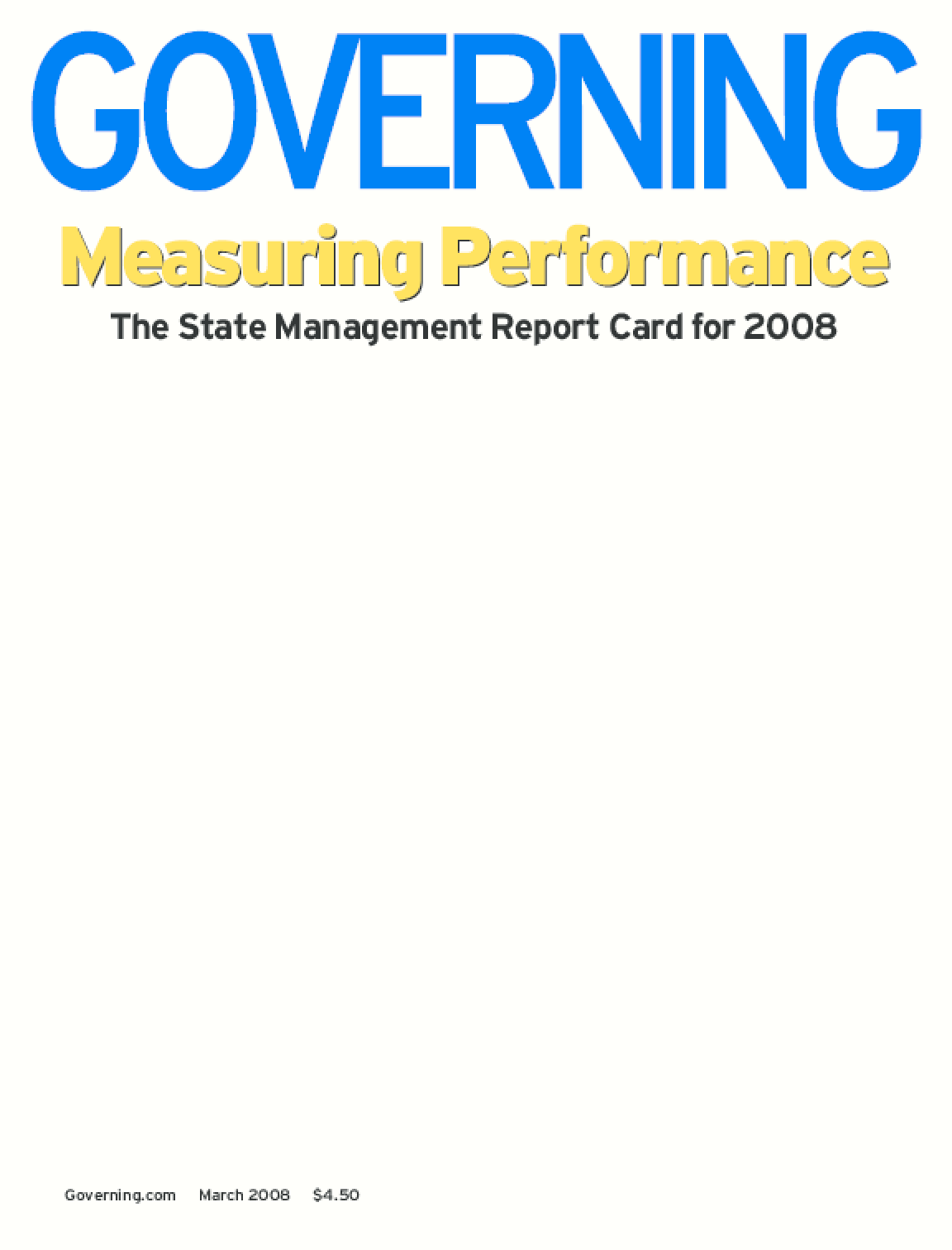 Measuring Performance: The State Management Report Card for 2008