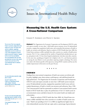 Measuring the U.S. Health Care System: A Cross-National Comparison