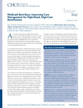 Medicaid Best Buys: Improving Care Management for High-Need, High-Cost Beneficiaries