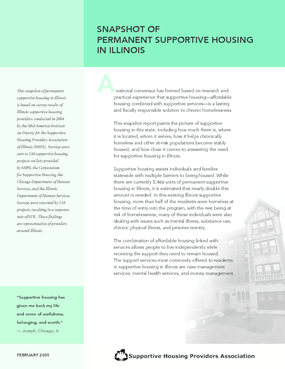Snapshot of Permanent Supportive Housing in Illinois