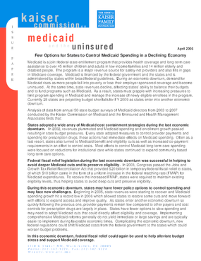 Medicaid in a Declining Economy: Limited Approaches for States to Control Spending
