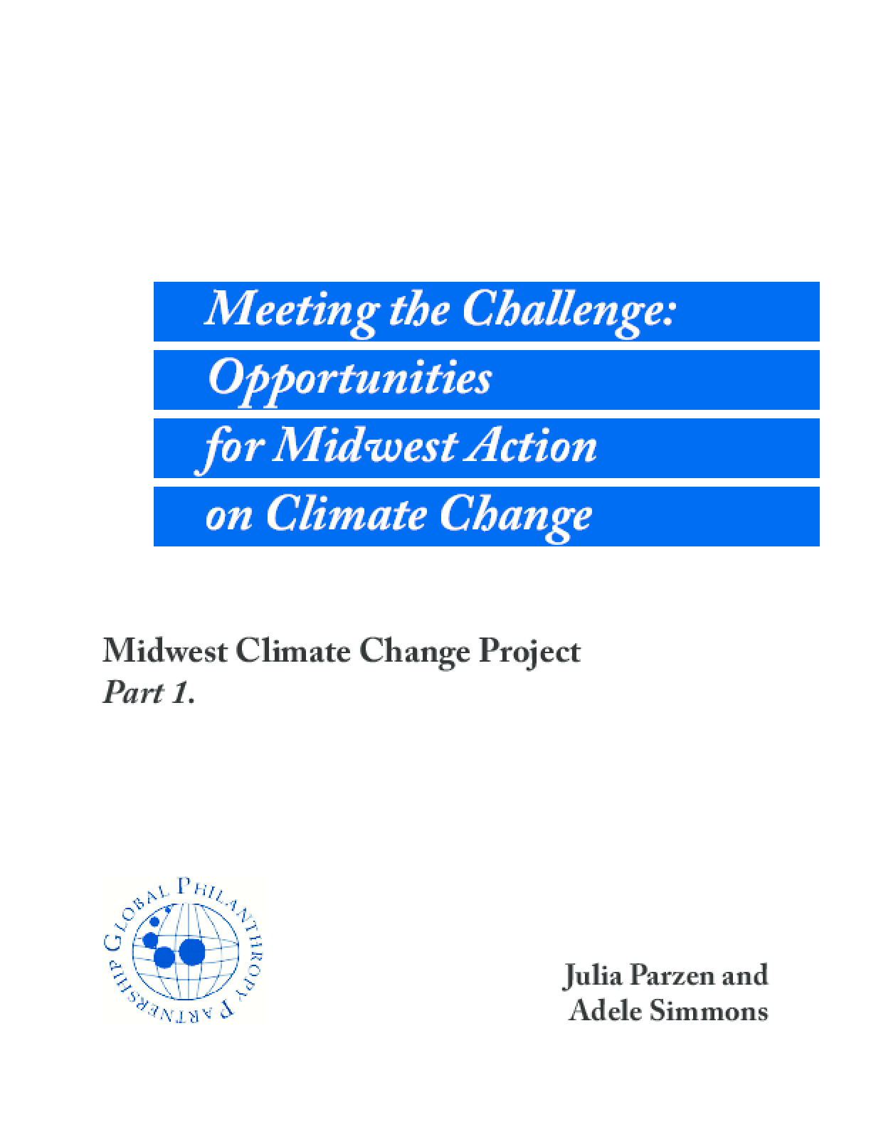 Meeting the Challenge: Opportunities for Midwest Action on Climate Change