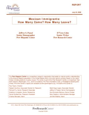 Mexican Immigrants: How Many Come? How Many Leave?
