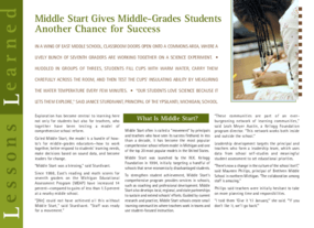 Middle Start Gives Middle-Grades Students Another Chance for Success