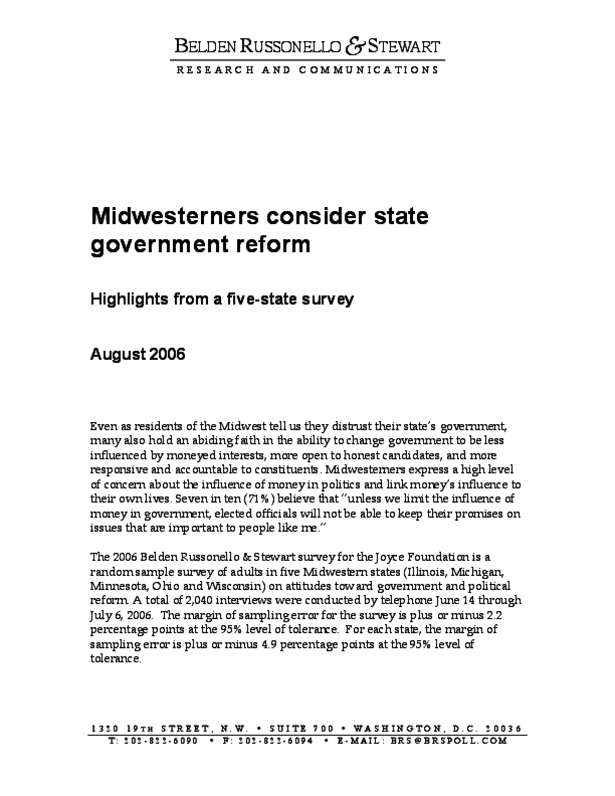 Midwesterners Consider State Government Reform
