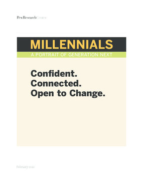 Millennials: Confident. Connected. Open to Change.