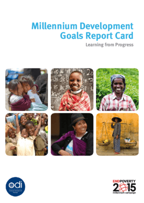Millennium Development Goals Report Card: Learning From Progress