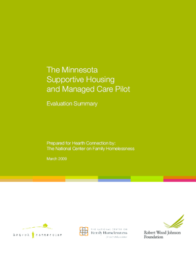 The Minnesota Supportive Housing and Managed Care Pilot: Evaluation Summary