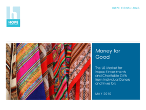 Money for Good: The US Market for Impact Investments and Charitable Gifts From Individual Donors and Investors