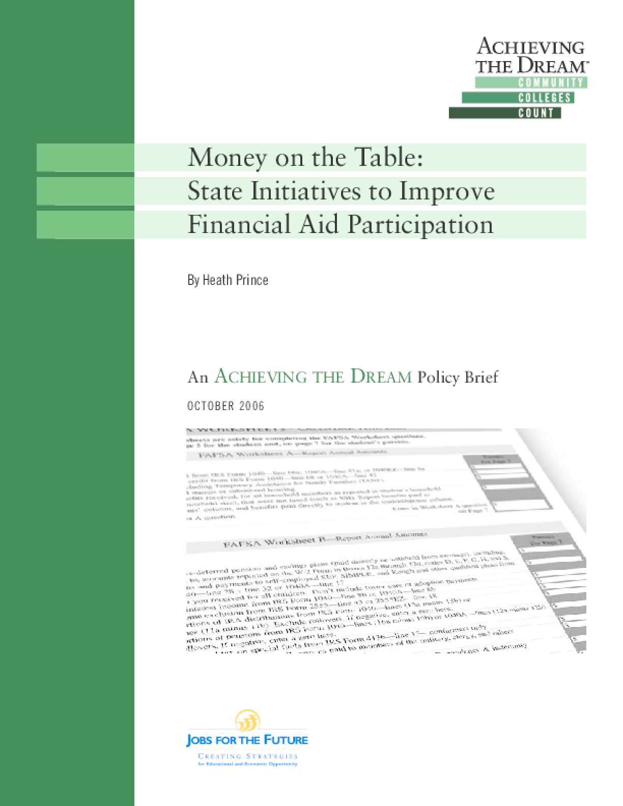 Money on the Table: State Initiatives to Improve Financial Aid Participation