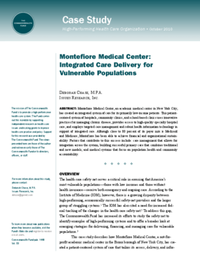 Montefiore Medical Center: Integrated Care Delivery for Vulnerable Populations