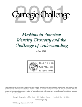 Muslims in America: Identity, Diversity and the Challenge of Understanding