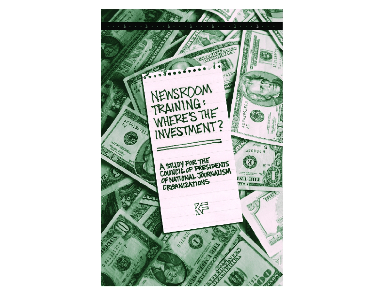 Newsroom Training: Where's the Investment?
