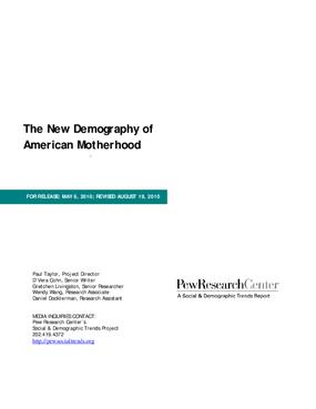 The New Demography of American Motherhood