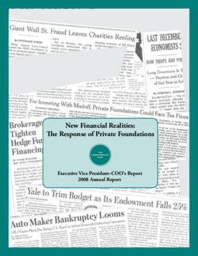 New Financial Realities: The Response of Private Foundations