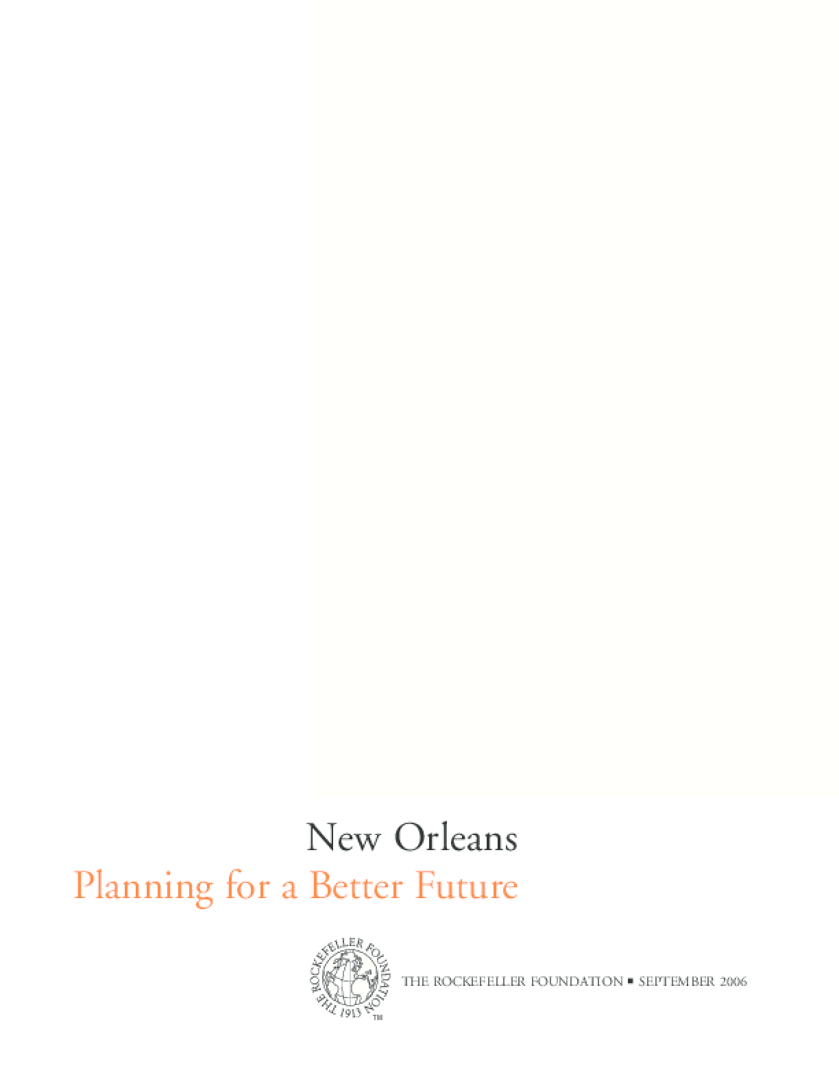 New Orleans: Planning for a Better Future