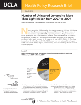 Number of Uninsured Jumped to More Than Eight Million from 2007 to 2009