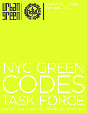 NYC Green Codes Task Force: Executive Summary