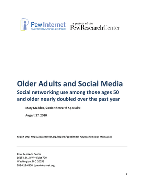 Older Adults and Social Media