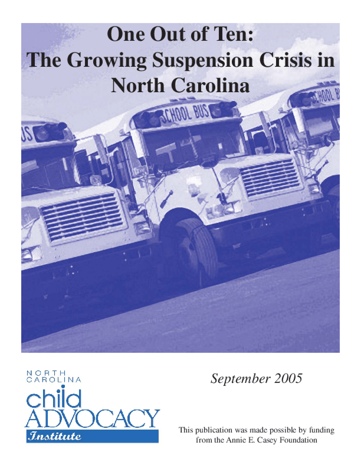 One Out of Ten: The Growing Suspension Crisis in North Carolina