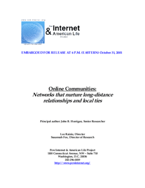 Online Communities: Networks That Nurture Long-Distance Relationships and Local Ties
