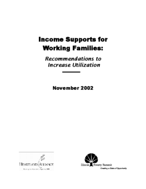 Income Supports For Working Families