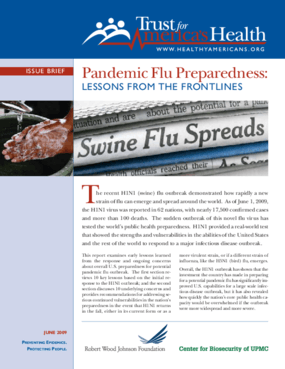 Pandemic Flu Preparedness: Lessons From the Frontlines