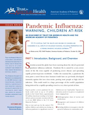 Pandemic Influenza: Warning, Children At-Risk